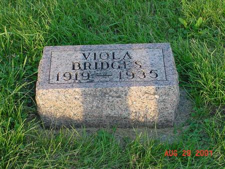 BRIDGES, VIOLA - Wright County, Iowa | VIOLA BRIDGES