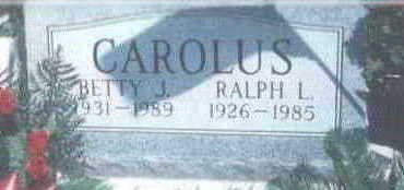 RAYL CAROLUS, BETTY - Wright County, Iowa | BETTY RAYL CAROLUS