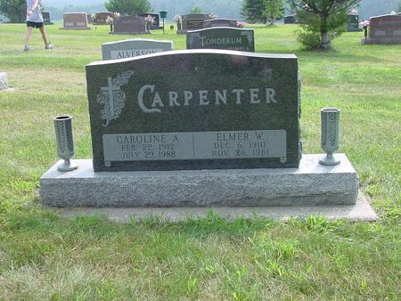 CARPENTER, CAROLINE ALICE - Wright County, Iowa | CAROLINE ALICE CARPENTER