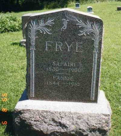 FRYE, FANNY - Wright County, Iowa | FANNY FRYE