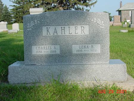 KAHLER, CHARLES A. - Wright County, Iowa | CHARLES A. KAHLER