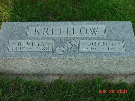 KREITLOW, BERTHA - Wright County, Iowa | BERTHA KREITLOW