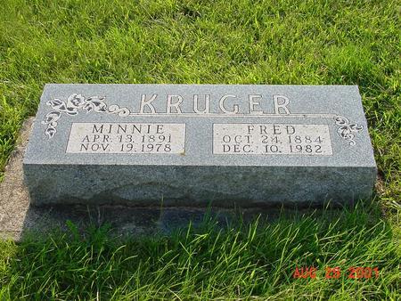 KRUGER, MINNIE - Wright County, Iowa | MINNIE KRUGER