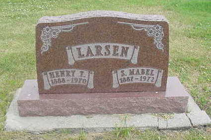 MCVICKER LARSEN, SUSIE MABEL - Wright County, Iowa | SUSIE MABEL MCVICKER LARSEN