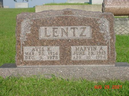 LENTZ, MARVIN A. - Wright County, Iowa | MARVIN A. LENTZ