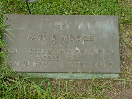 MOORE, PAUL E. - Wright County, Iowa | PAUL E. MOORE