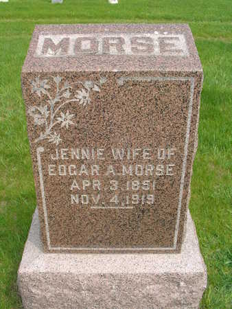 ANDERSON MORSE, JENNIE - Wright County, Iowa | JENNIE ANDERSON MORSE