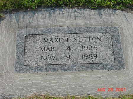 SUTTON, H. MAXINE - Wright County, Iowa | H. MAXINE SUTTON