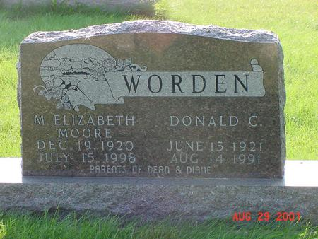 MOORE WORDEN, M. ELIZABETH - Wright County, Iowa | M. ELIZABETH MOORE WORDEN